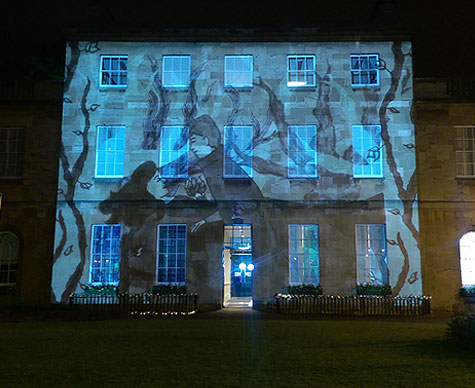 Image projection to building